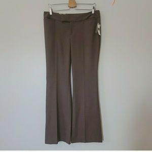 GAP Hadley Brown Flared Leg Career Dress Pants 8